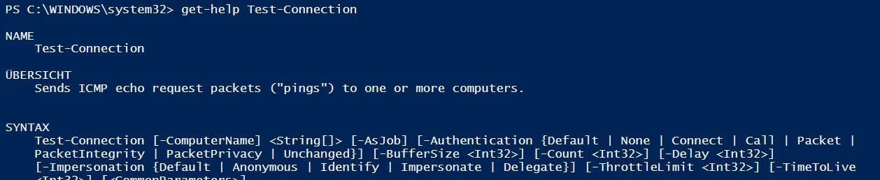 Powershell Help: Test-Connection