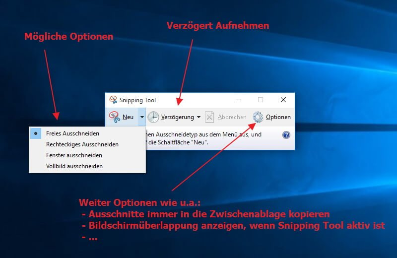 Screenshot mit windows 10 erstellen it learner screenshot in windows 10 mit dem snipping tool aufnehmen ccuart Image collections