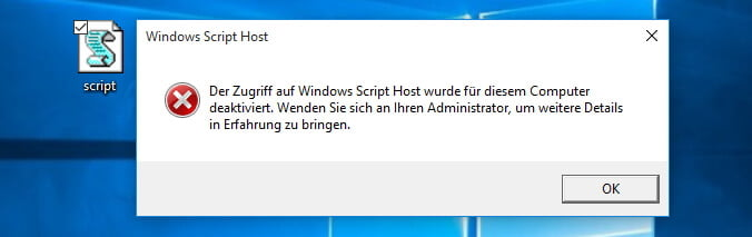 Windows Sicherheit - WSH deaktivieren | IT-Learner