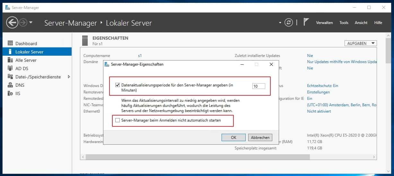 Windows Server Manager beim start automatisch deaktivieren